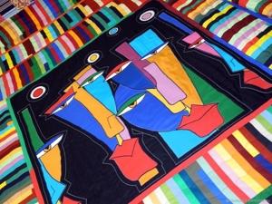 Лоскутное покрывало на кровать  «Альтер Эго»  — современный пэчворк в интерьере!!. Ярмарка Мастеров - ручная работа, handmade.