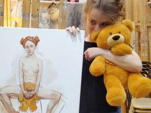 Необычайные приключения девушки и медвежонка. Ярмарка Мастеров - ручная работа, handmade.