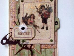Пасхальная открытка в винтажном стиле. Ярмарка Мастеров - ручная работа, handmade.