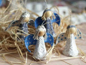 Мастерим ангелов из яичной упаковки. Ярмарка Мастеров - ручная работа, handmade.