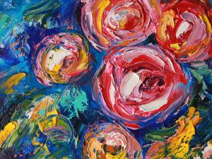 Обзор картины Розы. Ярмарка Мастеров - ручная работа, handmade.