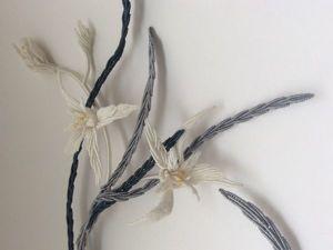Плетем длинный лист в технике микро-макраме. Ярмарка Мастеров - ручная работа, handmade.