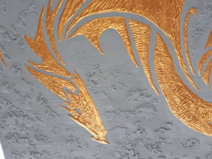 Золотой дракон в технике барельеф: символ достатка. Ярмарка Мастеров - ручная работа, handmade.