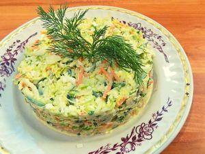 Овощной салат из капусты с яйцом. Ярмарка Мастеров - ручная работа, handmade.