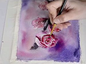 Видео мастер-класс: рисунок акварелью «Цветущая ветвь». Ярмарка Мастеров - ручная работа, handmade.