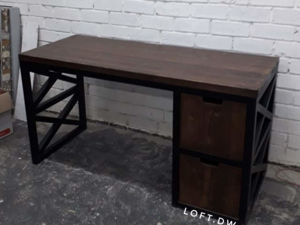 Письменные и рабочие столы в стиле лофт на заказ. Ярмарка Мастеров - ручная работа, handmade.