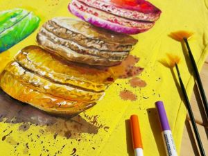 Любит ли Фламинго макаруны? Щедрая акция на ручную роспись?. Ярмарка Мастеров - ручная работа, handmade.