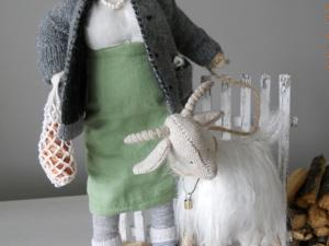История создания кукольной композиции  «Баба с козой». Ярмарка Мастеров - ручная работа, handmade.