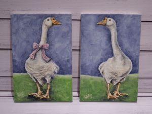 День 139. Диптих  «Два гуся». Ярмарка Мастеров - ручная работа, handmade.