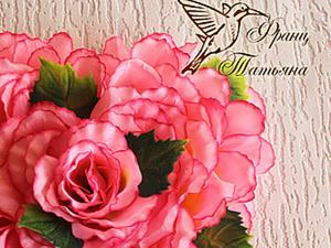 МК - Цветочная Валентинка - продолжение. Ярмарка Мастеров - ручная работа, handmade.