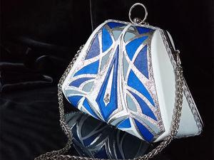 Видео-обзор клатча White&amp&#x3B;Blue с серебряными кисточками. Ярмарка Мастеров - ручная работа, handmade.