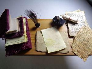 Создаем миниатюрные средневековые письменные принадлежности. Ярмарка Мастеров - ручная работа, handmade.