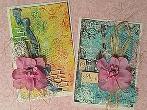 Создаем миленькие скрап-открыточки. Ярмарка Мастеров - ручная работа, handmade.