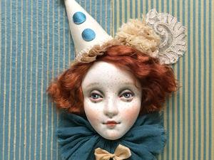Панно  «Портрет Пьеретты»  в магазине. Ярмарка Мастеров - ручная работа, handmade.