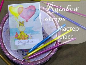 Простая детская открытка. Ярмарка Мастеров - ручная работа, handmade.