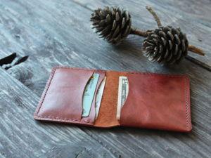 Делаем мини кошелек из натуральной кожи. Ярмарка Мастеров - ручная работа, handmade.