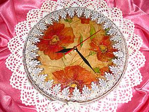 Делаем часы «Маковые сны» из подставки для свечей. Ярмарка Мастеров - ручная работа, handmade.