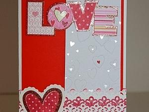 Открытка признание LOVE.. Ярмарка Мастеров - ручная работа, handmade.