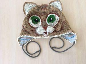 Вяжем шапку крючком для холодного лета. Ярмарка Мастеров - ручная работа, handmade.
