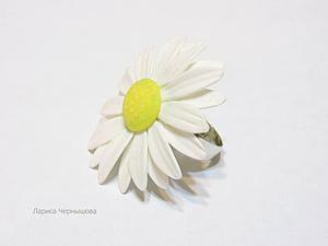 Создаем кольцо-ромашку из холодного фарфора. Ярмарка Мастеров - ручная работа, handmade.