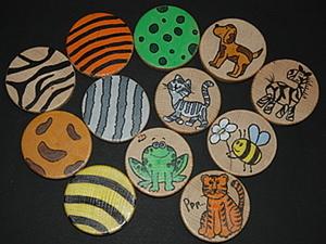 Пятнисто-полосатое настроение. Декорируем круглые заготовки из дерева. Ярмарка Мастеров - ручная работа, handmade.