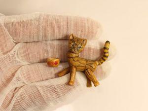 Деревянный шарнирный котейка. Ярмарка Мастеров - ручная работа, handmade.