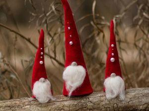 Видео мастер-класс: Валяем игрушки «Рождественские гномы». Ярмарка Мастеров - ручная работа, handmade.