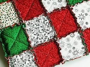 Создаем лоскутный плед «Новогодний» в технике rag quilt. Ярмарка Мастеров - ручная работа, handmade.