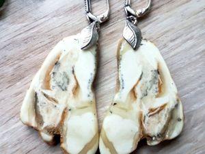 Янтарные серьги-пластины из одного камня. Смотрим-сравниваем. Ярмарка Мастеров - ручная работа, handmade.