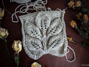 Видео мастер-класс: вяжем спицами узор «Листья на ветке». Часть 2. Ярмарка Мастеров - ручная работа, handmade.