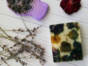 Создаем мыло с сухоцветами. Ярмарка Мастеров - ручная работа, handmade.