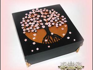 Создаем шкатулку «Сакура». Ярмарка Мастеров - ручная работа, handmade.