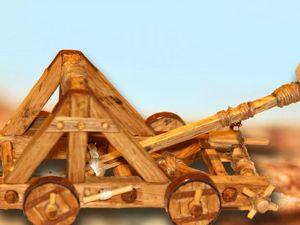 Мастерим макет катапульты. Действующая модель. Осадное орудие. Ярмарка Мастеров - ручная работа, handmade.