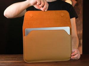 Чехол для MacBook из кожи сафьяно. Ярмарка Мастеров - ручная работа, handmade.