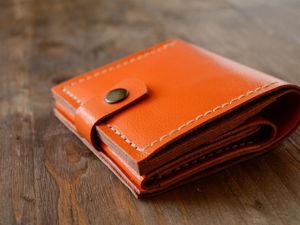 Изготавливаем кошелек из натуральной кожи. Ярмарка Мастеров - ручная работа, handmade.