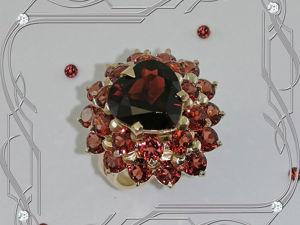 Кольцо «СЕРДЦЕ II — Au» золото 585 пробы, натуральные гранаты. Ярмарка Мастеров - ручная работа, handmade.