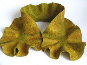 НОВИНКА! Валяный шарф-горжетка  «Оливковое настроение». Ярмарка Мастеров - ручная работа, handmade.