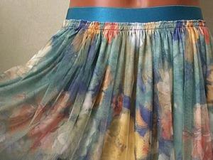 Шьём юбку из 3D трикотажа за час. Ярмарка Мастеров - ручная работа, handmade.