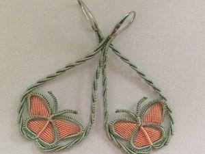 Плетем серьги-бабочки в технике макраме. Ярмарка Мастеров - ручная работа, handmade.