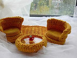 Вязанная кукольная мебель мастер-класс. Ярмарка Мастеров - ручная работа, handmade.