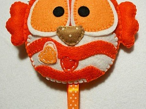 Шьем сову-ключницу из фетра. Ярмарка Мастеров - ручная работа, handmade.