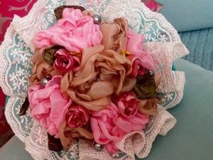 Делаем букет в стиле шебби-шик для невесты. Ярмарка Мастеров - ручная работа, handmade.