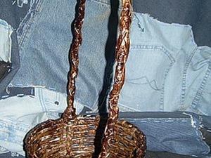 Плетение корзины из газетных трубочек. Ярмарка Мастеров - ручная работа, handmade.