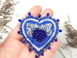 Сердце Немезиды. Брошь ручной работы из бисера. Ярмарка Мастеров - ручная работа, handmade.