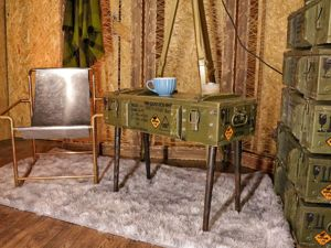 Кофейный столик из военного ящика. Ярмарка Мастеров - ручная работа, handmade.