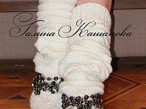 Мастер-класс по вязанию сапог от Галины Кашаповой. Ярмарка Мастеров - ручная работа, handmade.