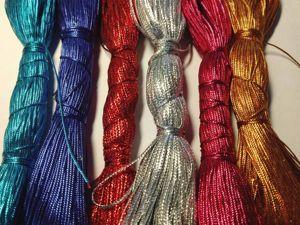 Шнуры металлизированные для декора. Ярмарка Мастеров - ручная работа, handmade.