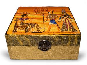 Шкатулка из картона в египетском стиле. Ярмарка Мастеров - ручная работа, handmade.