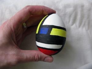 Как расписать яйцо в стиле Мондриана. Ярмарка Мастеров - ручная работа, handmade.