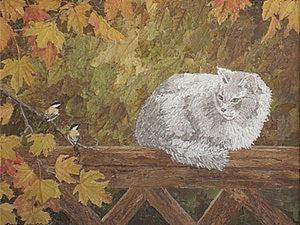 Картина из листьев. Ярмарка Мастеров - ручная работа, handmade.